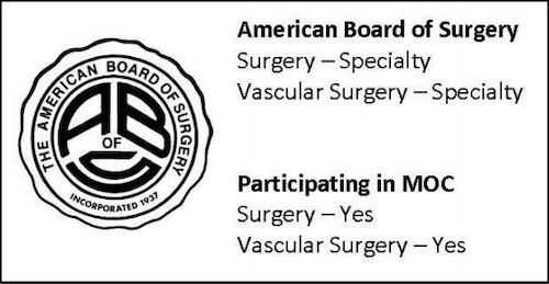 board certified vascular surgeon certification matters maintenance MOC